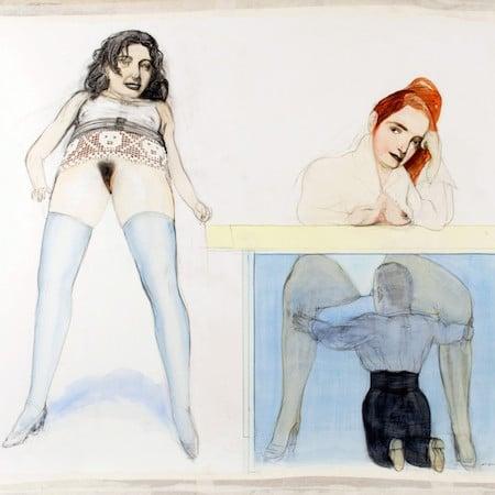peinture sans titre de pat andrea 1998