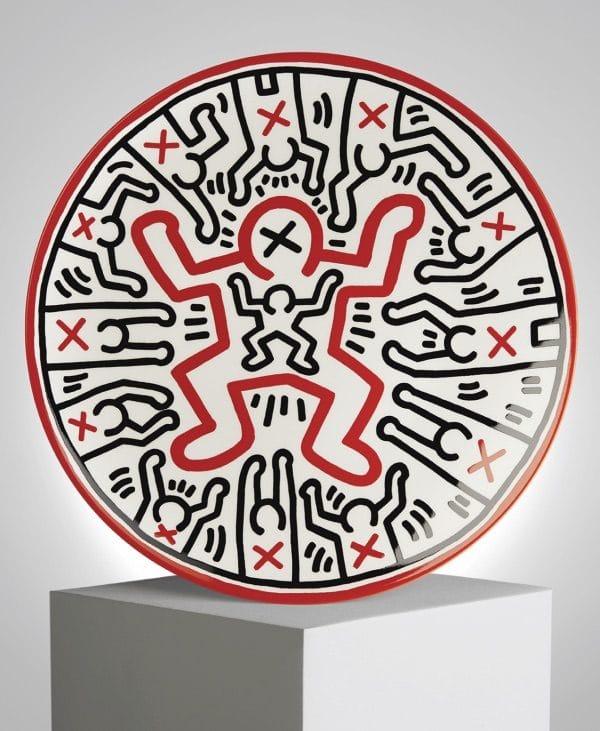 assiette en porcelaine de limoges untitled de keith haring galerie petitjean e-shop