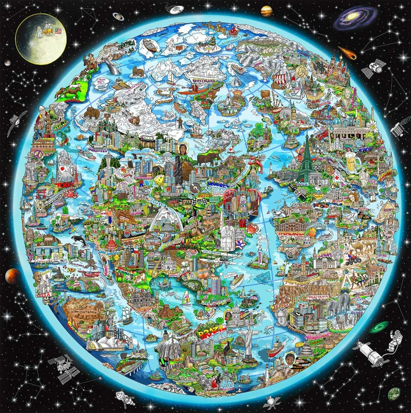 charles fazzino for a better world impression 3D édition limitée